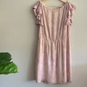 Pink and cream dress from Loft